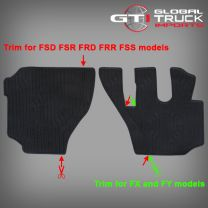 Isuzu Rubber Floors Mats - F FX FY Series 2008 On