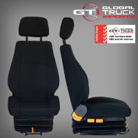 Mitsubishi Drivers Air Suspension Seat Black - Fighter FK FM FN 1996 On