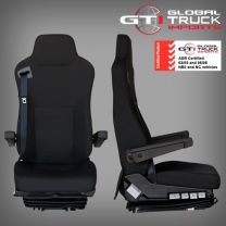 Mitsubishi Luxury Drivers Air Suspension Seat Black - Fighter FK FM FN 1996 On